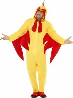 Adults Chicken Costume Bird Rooster Animal Mens Womens Fancy Dress Outfit • 24.99£