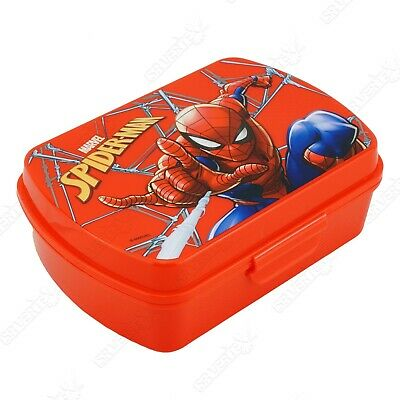 Spiderman Character Lunch Sandwich Box With Cutlery For 3+ Years Kids Gift • 6.29£