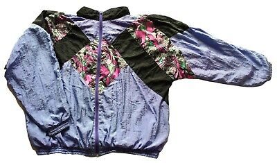 Men's Vintage 80's Pale Purple Abstract Patterned Shell Suit Jacket 3XL 50  • 19.99£