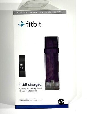AU17.87 • Buy Authentic Original Fitbit Charge 2 Replacement Classic Band SMALL Plum Purple