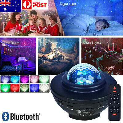 AU35.99 • Buy LED Galaxy Starry Night Light Projector Star Sky Party Kids Baby Bedroom Lamp AU
