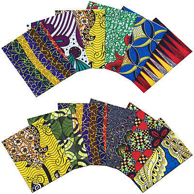 £5.99 • Buy African Fabric Multicolored Cotton Print FAT QUARTER BUNDLE Crafting Patchwork