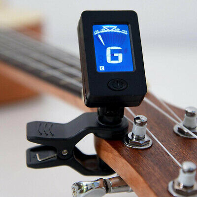 $ CDN6.72 • Buy Electric Digital Guitar Tuner LCD Clip-on Chromatic Acoustic Bass Violin Tuner