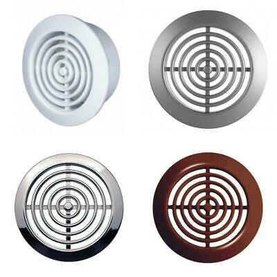 £2.99 • Buy 2 X Round Air Vent Grille 45mm / 52mm Soffit Furniture Ventilation Cover