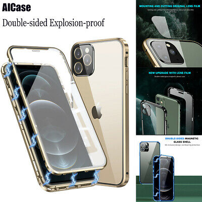 AU16.98 • Buy Double-sided Explosion-proof Glass &Camera Protector Case For IPhone 12/12 Pro