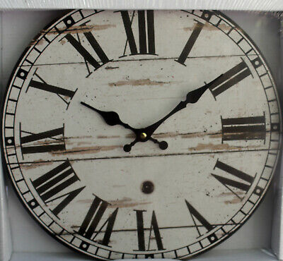 AU19.95 • Buy REDUCED   Rustic   Wood  Wall Clock  34 Cm        BRAND NEW