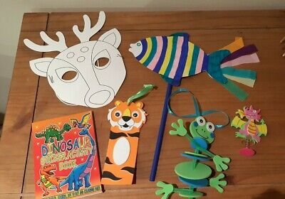 Childrens Arts And Crafts Set Animal Themed Box  Childrens Gift • 8.99£