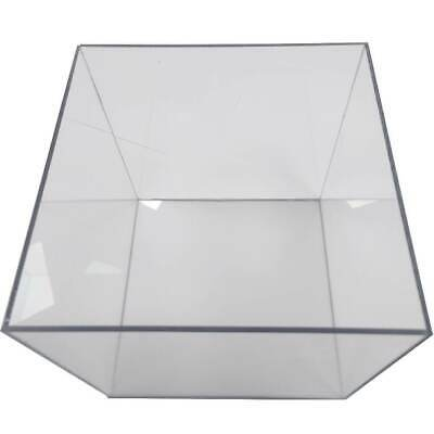 £16.45 • Buy Cube Display Stand Square 5 Sided Box Tray Case Shop Holder Clear Polycarbonate
