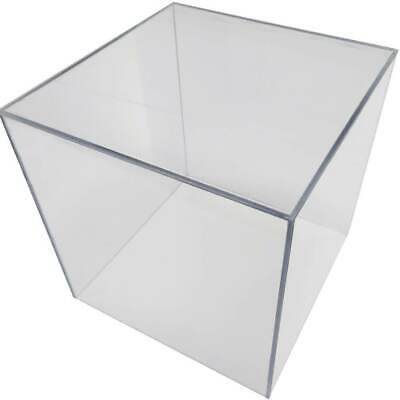 £29.90 • Buy Cube Display Stand Square 6 Sided Box Tray Case Shop Holder Clear Polycarbonate