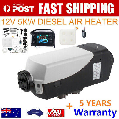 AU189.99 • Buy NEWEST 12V 2KW Diesel Air Heater Tank Digital Thermostat Silencer T-Piece Remote