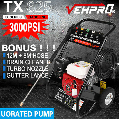 £239.98 • Buy VEHPRO Petrol Power Pressure Jet Washer 3000PSI 6.5HP Engine With G-un Hose