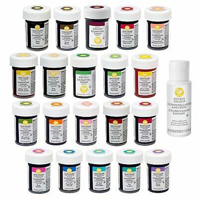 Wilton Concentrated Gel Paste Colour Set 20x 28g (Full Set) And White White • 28.78£