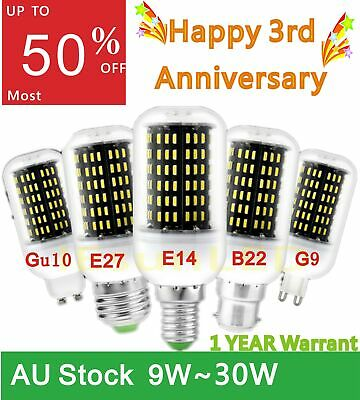 AU17.99 • Buy 9W~30W LED Corn Bulb Energy Saving Light E27 B22 LED Bulbs Globe Lamp 30%~50%OFF