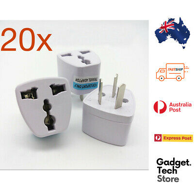 AU29.68 • Buy 20X Universal Travel Adapter International UK USA EU To AU Australian Power Plug