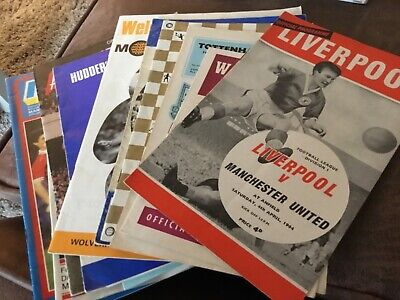 Manchester United Away Programmes X 12 (1964-1988) • 4.99£