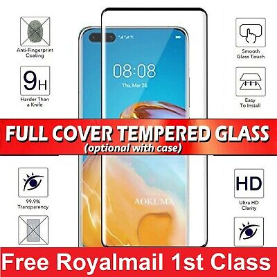 For Huawei P40 P30 Pro Lite 5G Mate Tempered Glass Screen Protector / Case Cover • 3.88£