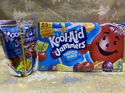 Kool Aid Jammers Box Of 10 Tropical Punch (USA Import) 10 X 6floz Pouches • 14.99£