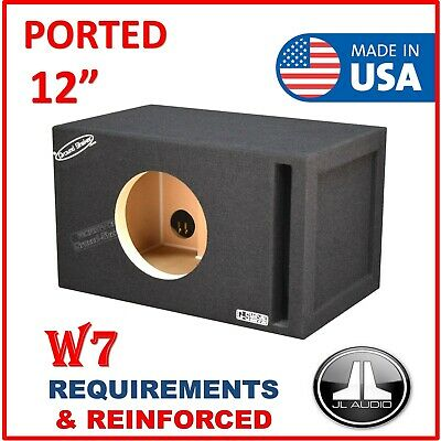 $ CDN228.37 • Buy 12  Single Ported / Vented Sub Box Subwoofer Enclosure (For JL AUDIO W7 12  BOX)