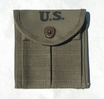 $16.99 • Buy WW2 .30 M1 CARBINE  BUTTSTOCK TYPE POUCH OD Green Marked JT&L 1944