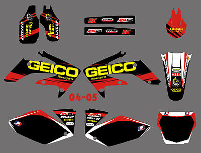 $52.24 • Buy Team Graphics Backgrounds Decals Kit For Honda CRF 250R CRF250R 2004-2005 04 05