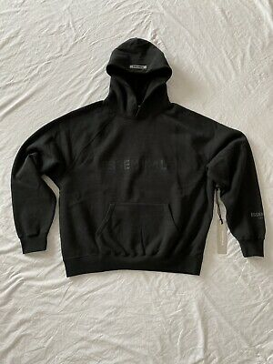 Fear Of God Essentials Hoody - Black Stretch Limo - Size S • 180£