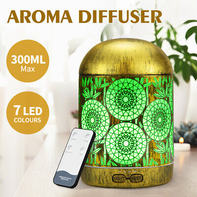 AU29.95 • Buy Aromatherapy Diffuser Aroma Essential Oil Ultrasonic Air Humidifier Mist