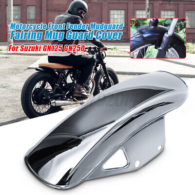 Motorcycle Front-Fender Mudguard Fairing Cover For Suzuki GN125 GN250 Silver • 16.79£