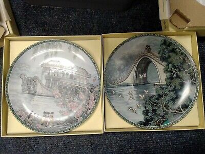 £9 • Buy 2 X Imperial Jingdezhen Porcelain Plate -scenes From The Summer Palace -  BB273