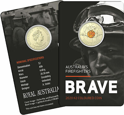 AU14.95 • Buy 2020 $2 Dollar Firefighter Coin On Card Non C Mint - Free Tracked Post