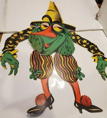 $ CDN127.11 • Buy Vintage Beistle Co. Halloween Die Cut Witch Goblin Wall Hanging