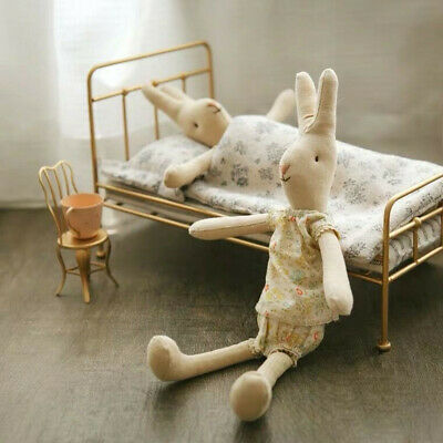 $78 • Buy Maileg 9 Inch Bunny Girl With Cardboard Logo Tag & Body Tag +Maileg Golden Bed