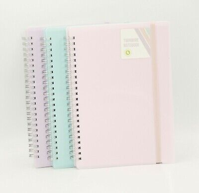 A4/A5 Book Office Notepad Spiral Bound 70gsm Lined Paper Notebook • 2.99£