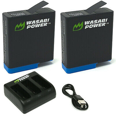 $ CDN23.73 • Buy Wasabi Power Battery (2-Pack) & Charger Fully Compatible For GoPro HERO 8/7/6/5