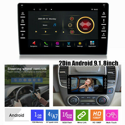 $124.79 • Buy 8  Double 2Din Android 9.1 Car Stereo Radio Bluetooth MP5 Player WiFi GPS Navi