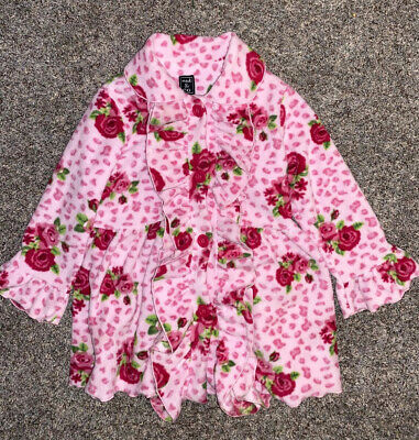$24.99 • Buy Girls Mack & Co Coat Pink W Red Roses Size 6