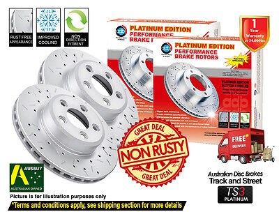 AU104.50 • Buy For MITSUBISHI Pajero NS NT NW NX 332mm FRONT Slotted Drilled Disc Brake Rotors