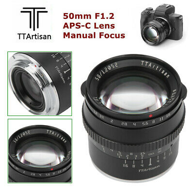 AU119.16 • Buy TTArtisan 50mm F1.2 APS-C Lens For For Sony E Mount A5000 A5500 A6000 A6300