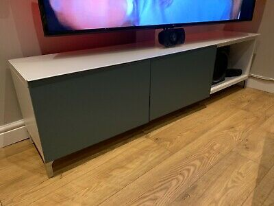 IKEA Besta Tv Multimedia Bench Table, With Floating Tv Stand Mount. • 149£