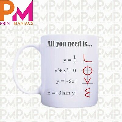 £5.59 • Buy Math Style All You Need Is Love Ceramic Mug His Her Gift Present Day Teacher