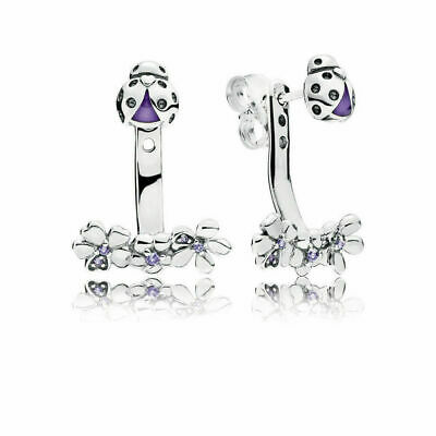 Pandora 925 Sterling Silver Drop Earrings Ladybug Meadow 297123NLC • 18.99£