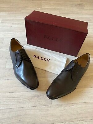 Bally Shoes Mens Brouge Derby Formal Louys Leather Shoes UK11 US12 EU11 FR45 • 145£