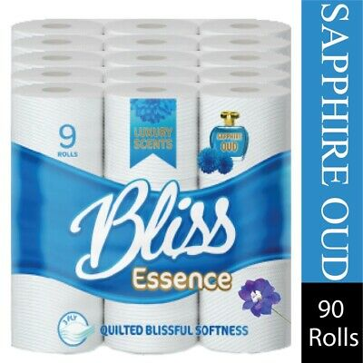£20.49 • Buy 45 90 Bliss Luxury 3Ply Scented Bathroom Toilet Tissue Rolls Sapphire Oud