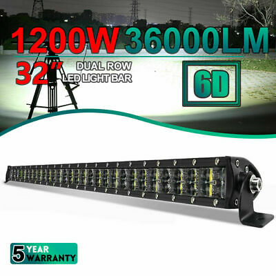 AU75.99 • Buy 32inch 6D LED Work Light Bar Combo Driving Offroad Bumper Lamp Truck 4WD SUV ATV
