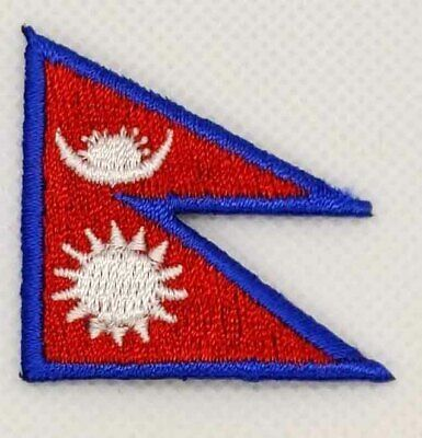 Nepal Flag Patch Embroidered Iron On Applique Nepali • 2.83£