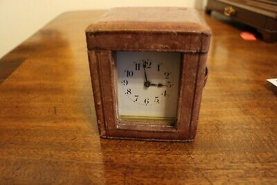 AU238.05 • Buy 19th Century French Brass 8 Day Travel Carriage Clock Fully Working