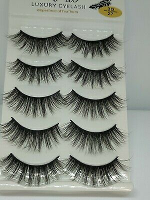 UK 5 Pairs 3D Fake Eyelashes Long Thick Natural False Eye Lashes Set Mink Makeup • 2.99£