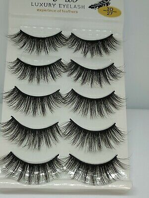 UK 5 Pairs 3D Fake Eyelashes Long Thick Natural False Eye Lashes Set Mink Makeup • 2.69£