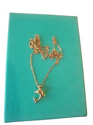 AU120 • Buy 9ct Gold Chain And Dolphin Pendant