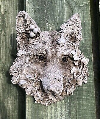 Wolf Woodland Garden Wall Plaque Wolves Ornament Sculpture New & Boxed 22cm • 21.95£