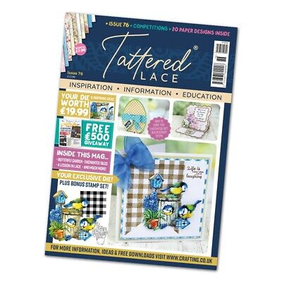 NEW Tattered Lace Issue 76 Magazine With FREE Bird House Die - CLEARANCE • 6.99£